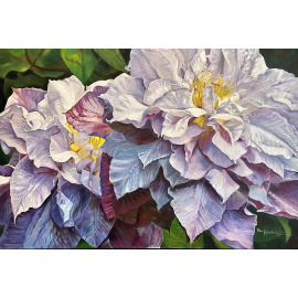Bev Robertson - Jewels of July - Double Clematis