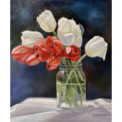 Bev Robertson - Red and White Spring Delight