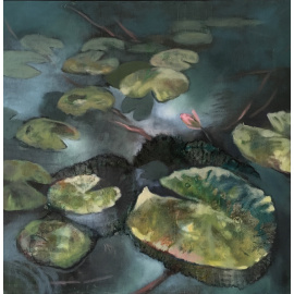 Lisa Hebden - Waterlilies - single bloom