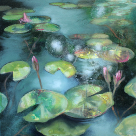 Lisa Hebden - Waterlilies - Twin Lilies