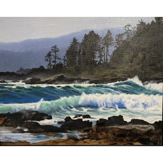 Maureen Ness - After the Storm-Botanical Beach