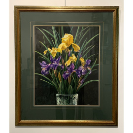 Estate Art Sale - Irises in Vase - Catherine Moffat