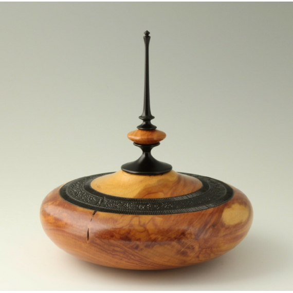 Tim Soutar - Hollow vessel with finial