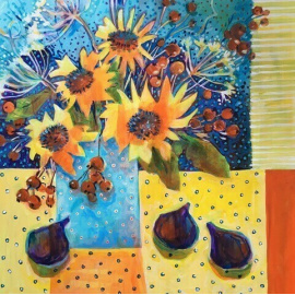 Jennifer McIntyre - Sunflowers and Figs
