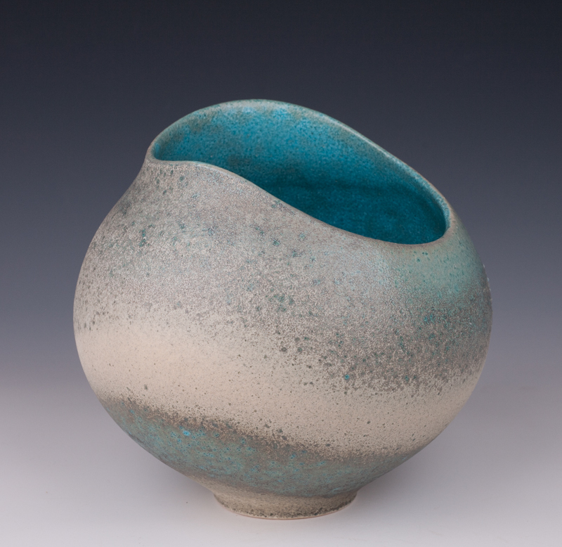 Mary Fox - Altered Vessel Baking Soda Blue