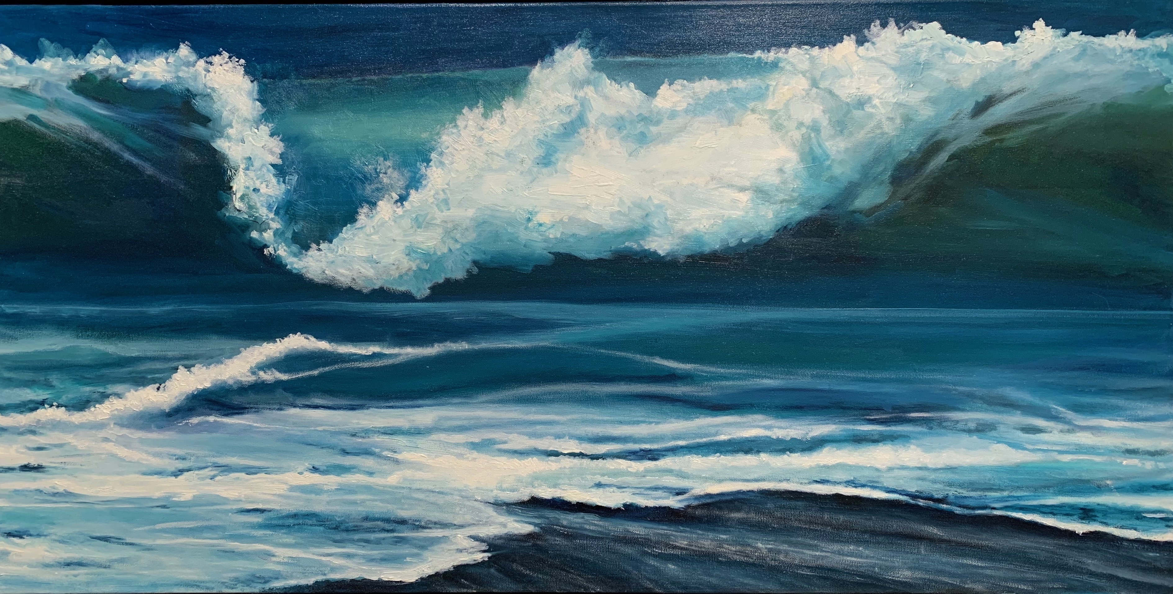 Maureen Ness - Mighty Waves Ashore, French Beach