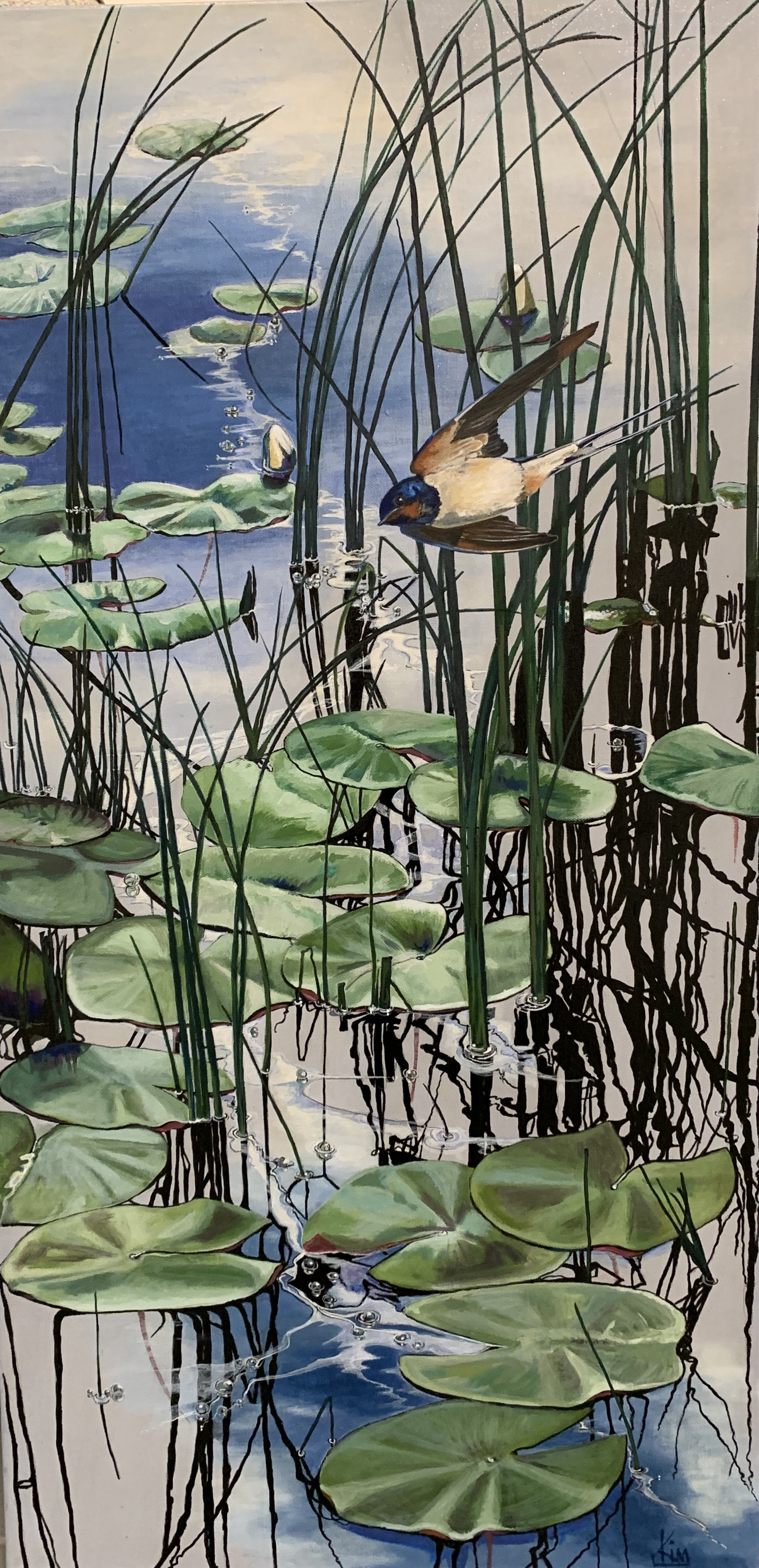 Kim Hollingsworth - Swallow on Pond